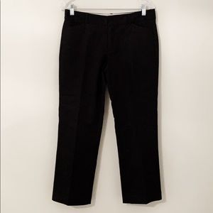 Gap stretch black straight leg pants ankle